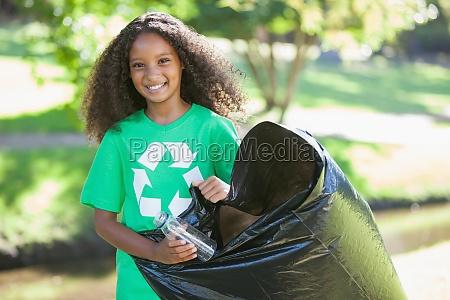 young environmental activist smiling at the