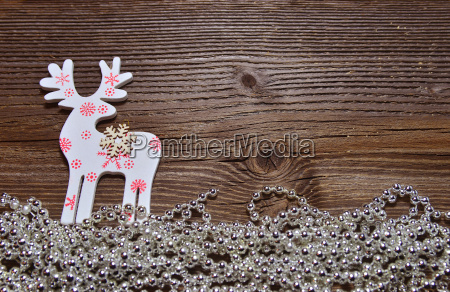christmas wood background moose