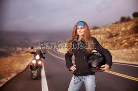fashion biker girl