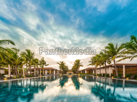 beautiful view of resort in vietnam
