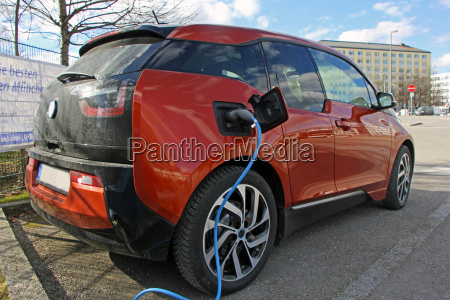 electric car at the loading station