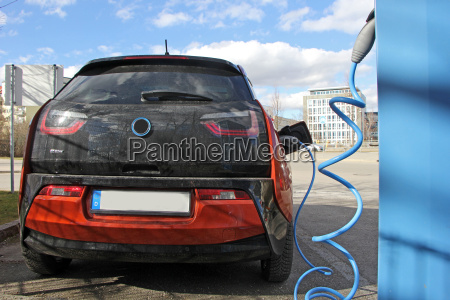 electric car while charging