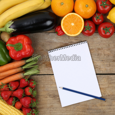 shopping list for the purchase of