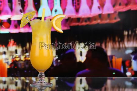 oranges fruit cocktail juice in a