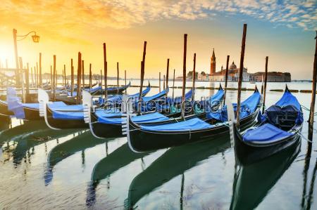gondolas in venezia