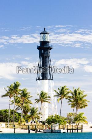 hillsboro lighthouse pompano beach florida usa
