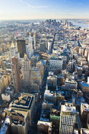 view of manhattan from the empire