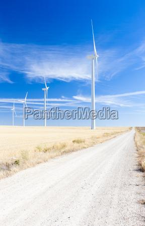 wind turbines castile and leon spain
