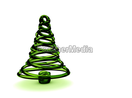 christmas tree 3d rendering