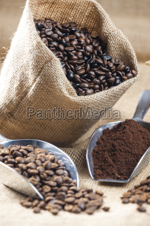 still life of coffee beans in