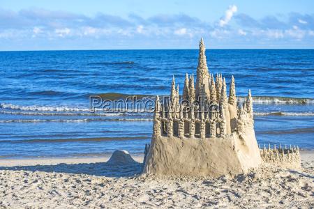 sandcastle on the baltic sea