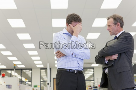 bank manager talking to business owner