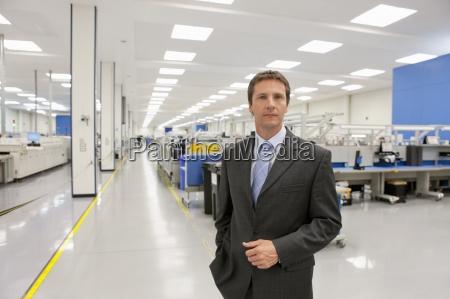 portrait of confident businessman in hi
