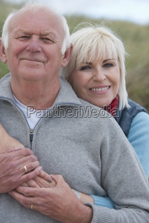 portrait of romantic mature couple in