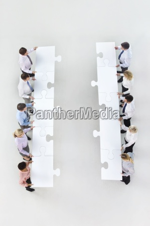 business people standing face to face