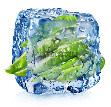 pepper in ice cube