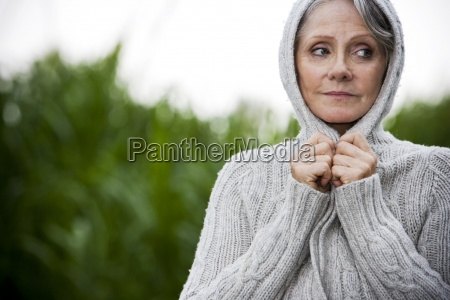 one person only woman senior adult