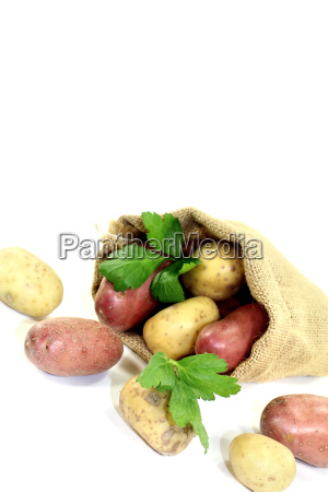 yellow and red potatoes in a