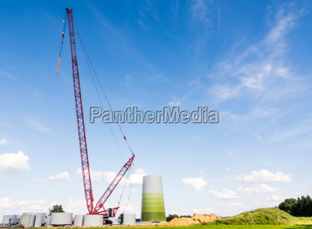 windmill construction site
