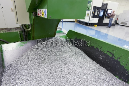 bin of waste metal from engineering