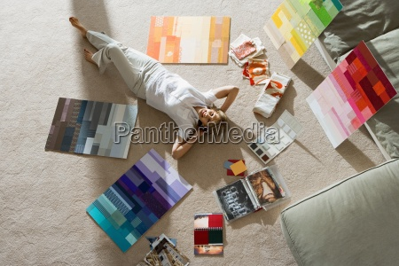 senior man lying on floor at