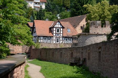city wall in buedingen
