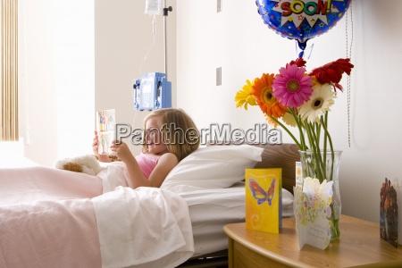 girl 8 10 in hospital bed