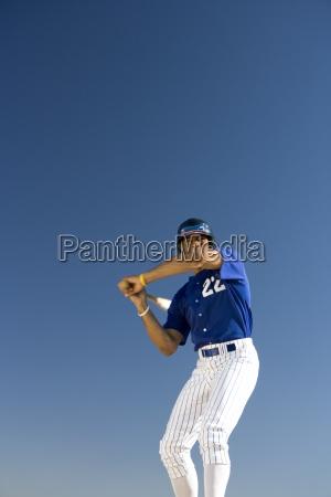 baseball teig gegen den klaren blauen