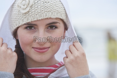 close up portrait of teenage girl