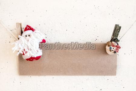 christmas santa claus and snowman clothespin