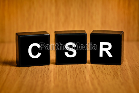 csr or corporate social responsibility word