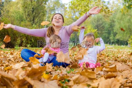 happy family autumn