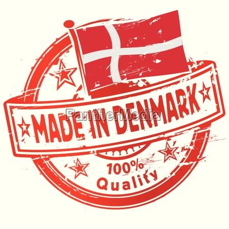 stamp made in denmark