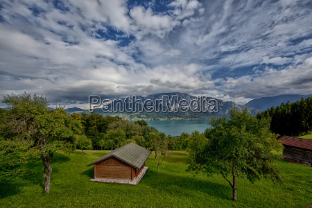 clouds over the attersee