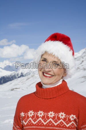 portrait of mature woman in sweater