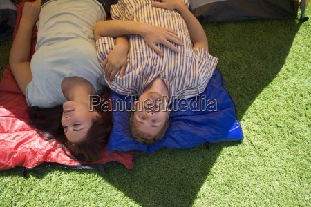 couple lying side by side on