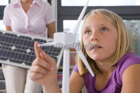 curious student studying about wind turbines