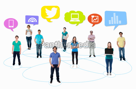 people connected through network