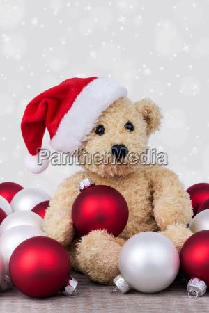 teddy bear balls christmas kogeln