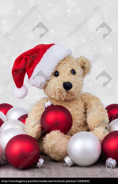 Teddy bear, balls, Christmas Kogeln, Christmas, balls, christmas balls - 12985842