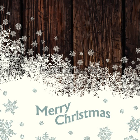 merry christmas design on hardwood planks