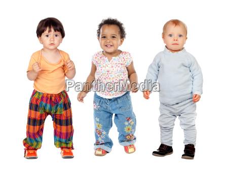 three funny children