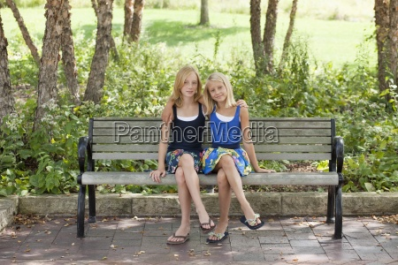 horizontal color photography two people girls