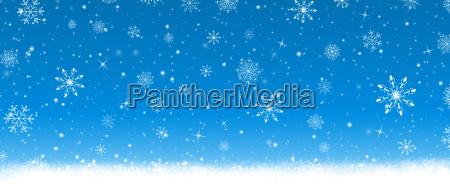 blue christmas card