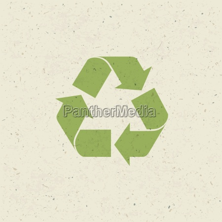 recycled symbol on paper texture design