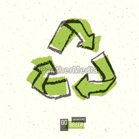 go green concept poster with recycled