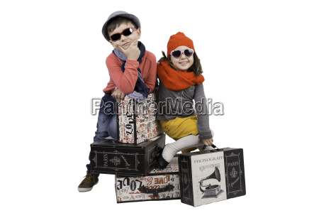 boy and girl on travel