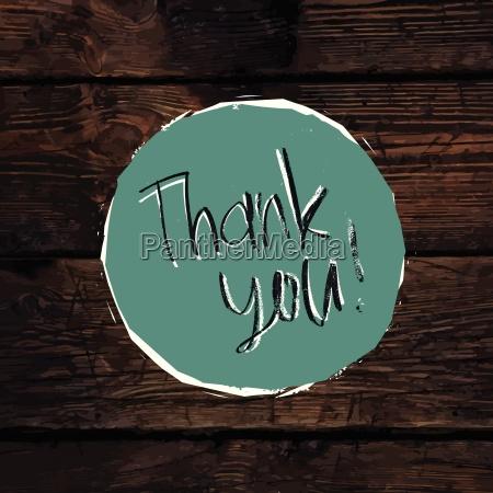 thank you card on hardwood texture
