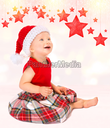cute happy santa girl