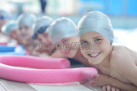 group of happy kids children at